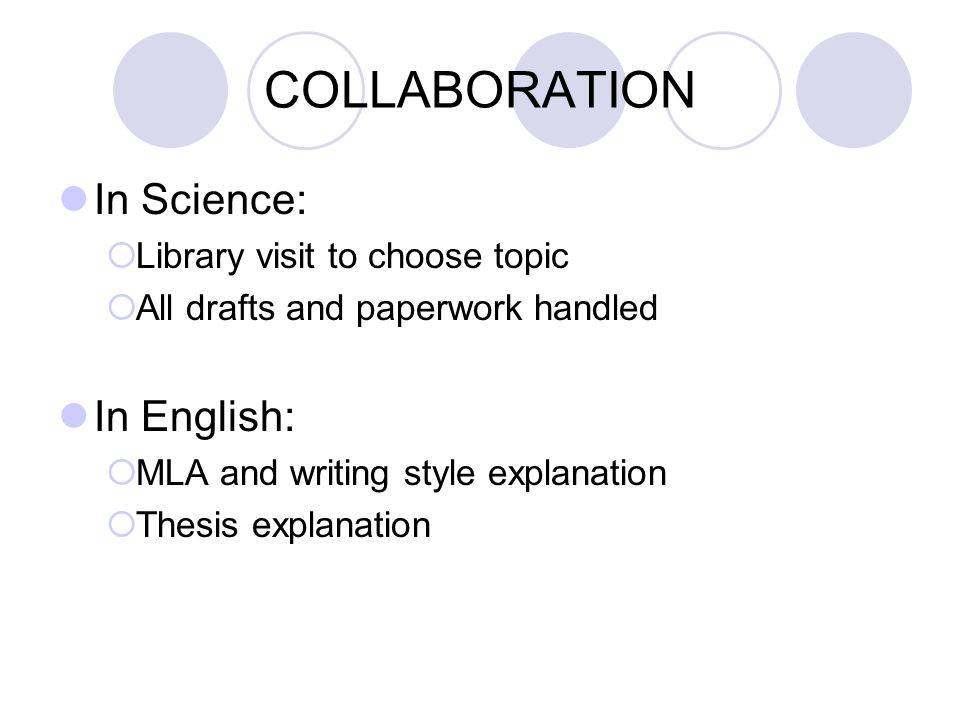 COLLABORATION In Science: In English: Library visit to choose topic