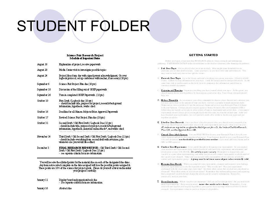 STUDENT FOLDER