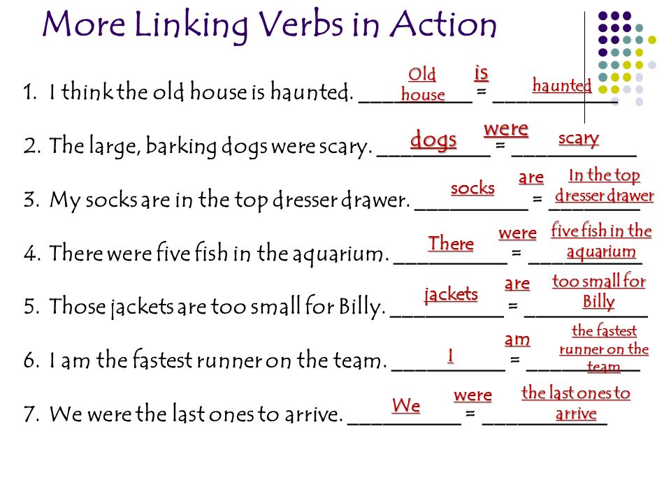 More Linking Verbs in Action