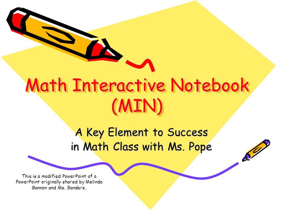 Math Interactive Notebook (MIN)