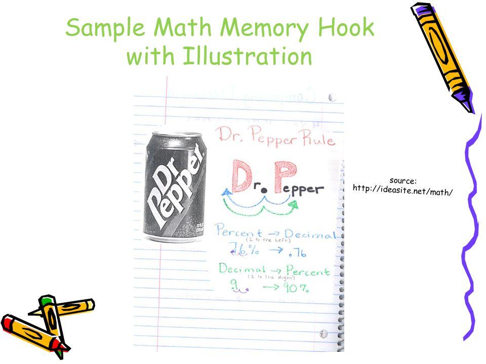 Sample Math Memory Hook with Illustration