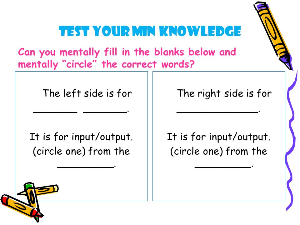 Test Your MIN Knowledge