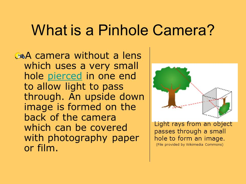 What is a Pinhole Camera