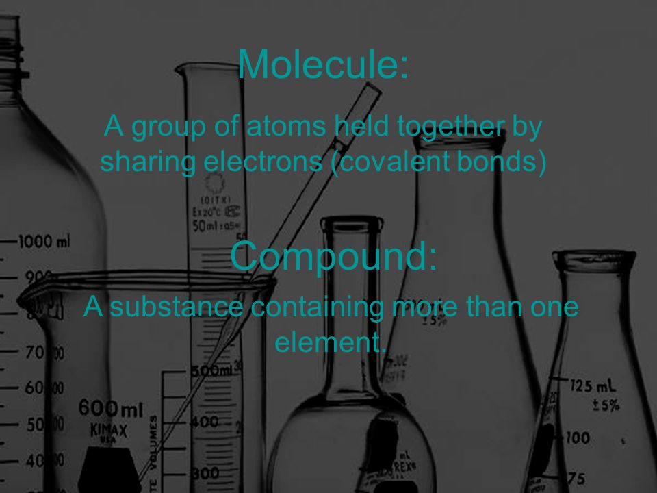 A group of atoms held together by sharing electrons (covalent bonds)