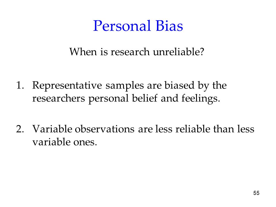 When is research unreliable