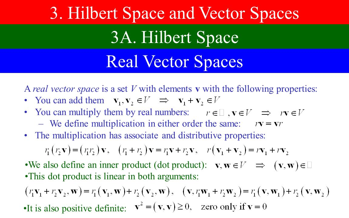 3 hilbert space and vector spaces ppt video online download hilbert space and vector spaces publicscrutiny Image collections