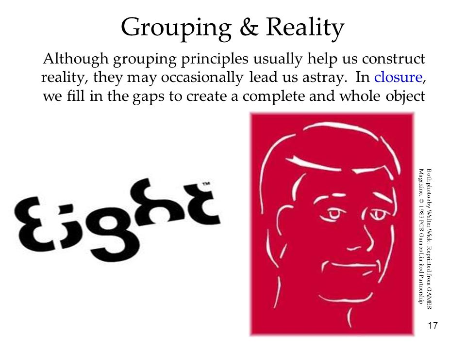 Grouping & Reality