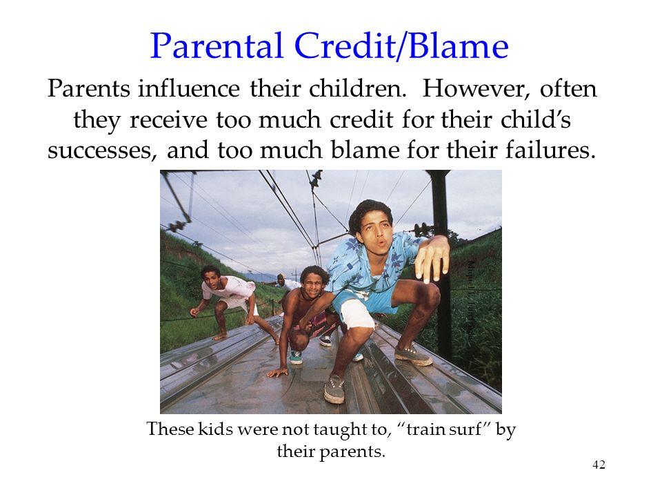 Parental Credit/Blame