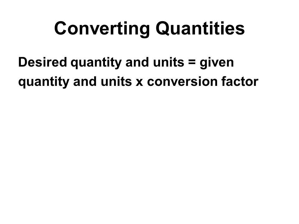 Converting Quantities