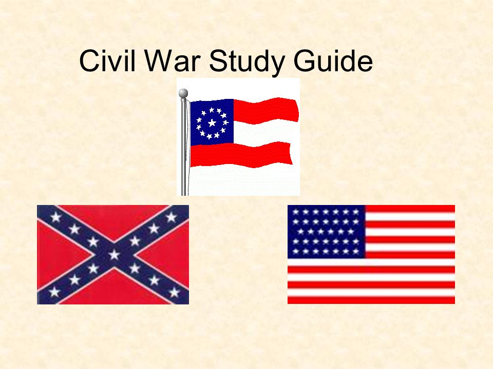 civil war study guide ppt