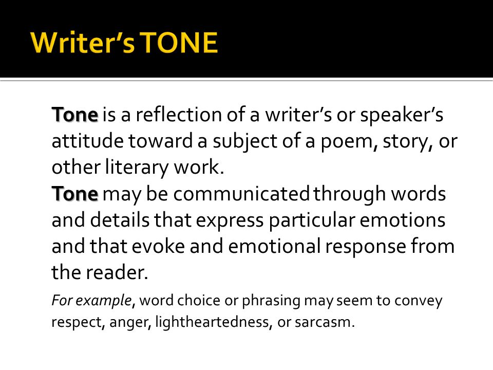Writer's TONE