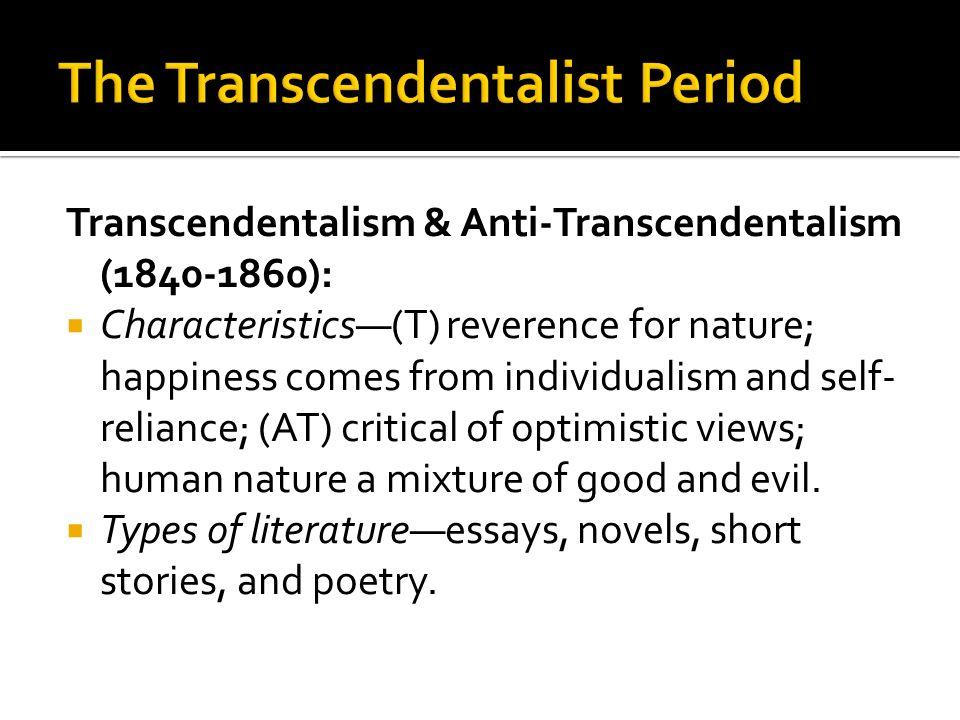 The Transcendentalist Period