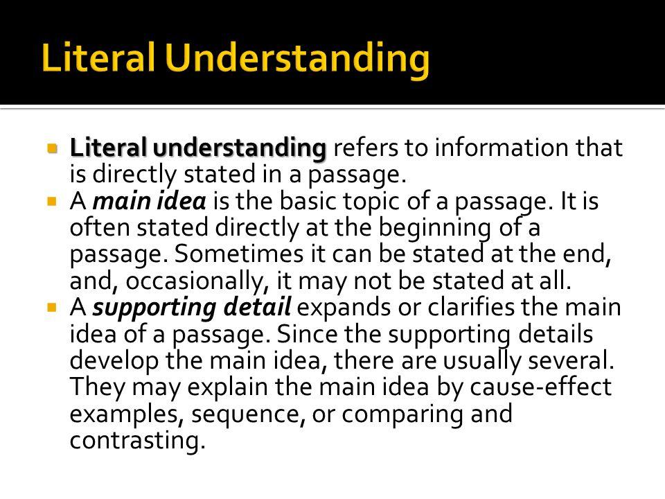 Literal Understanding