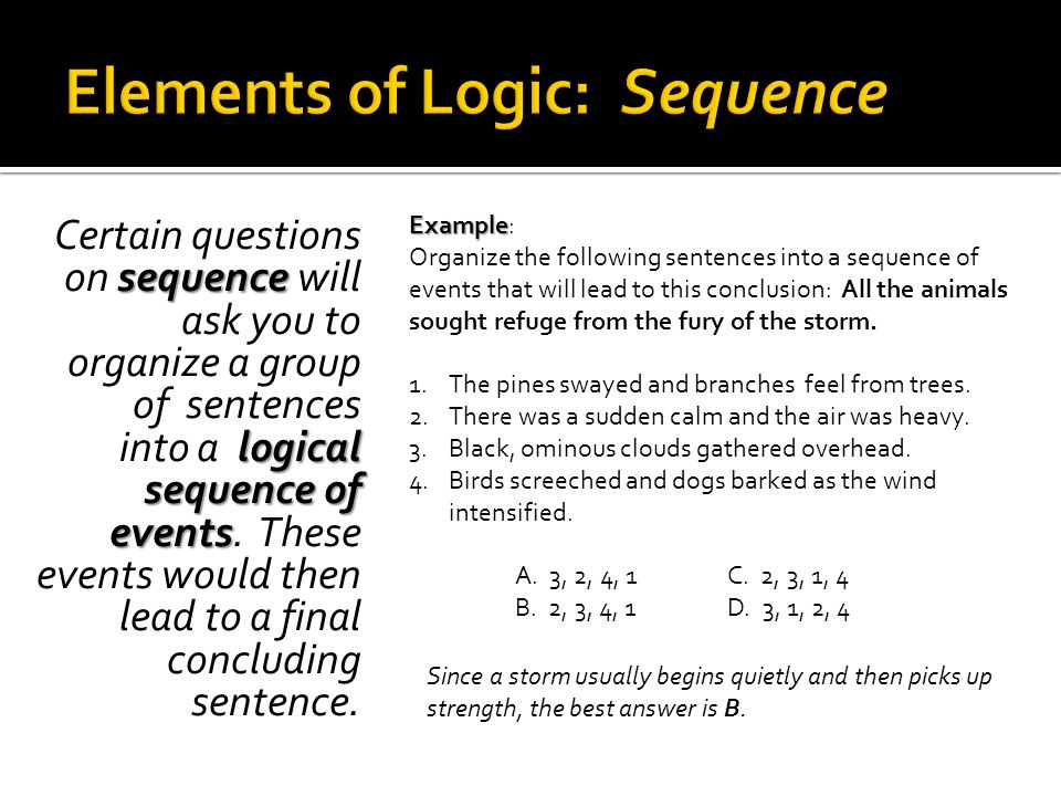 Elements of Logic: Sequence