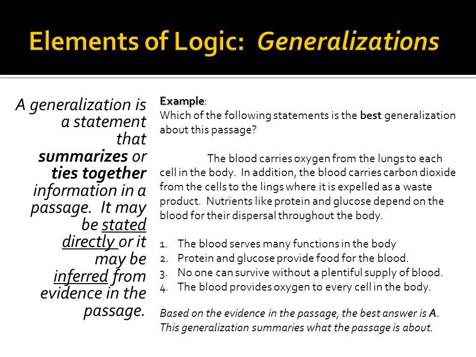 Elements of Logic: Generalizations