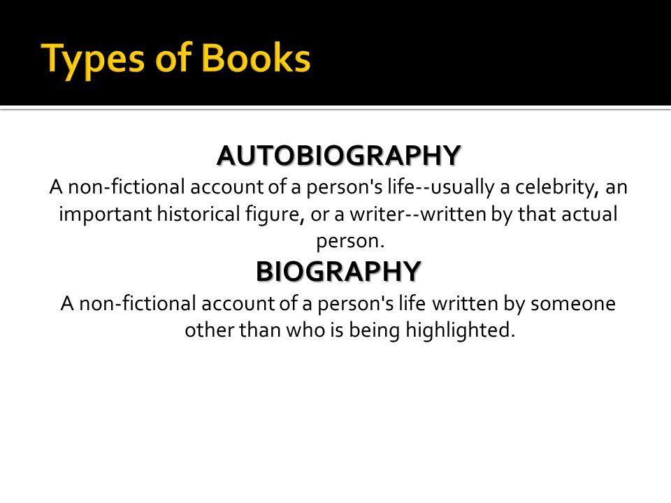A non-fictional account of a person s life--usually a celebrity, an