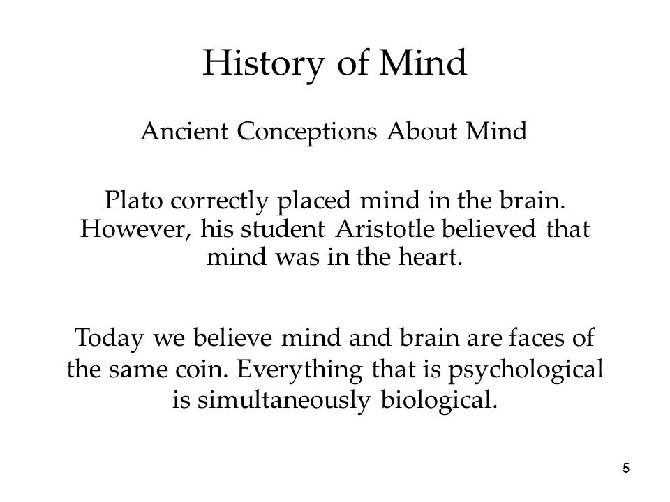 Ancient Conceptions About Mind