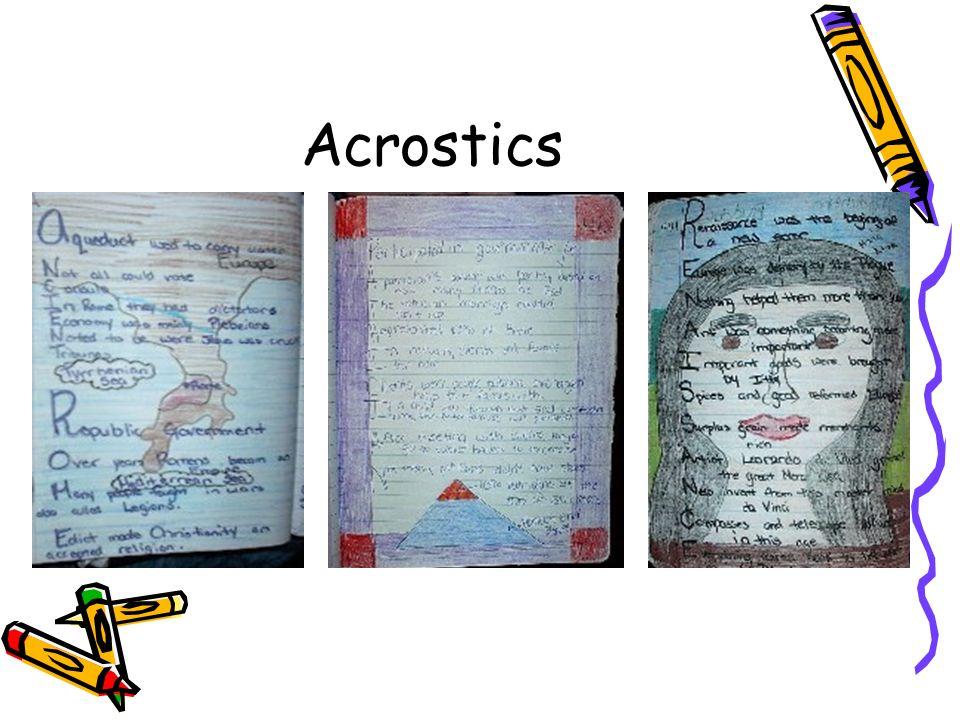 Acrostics