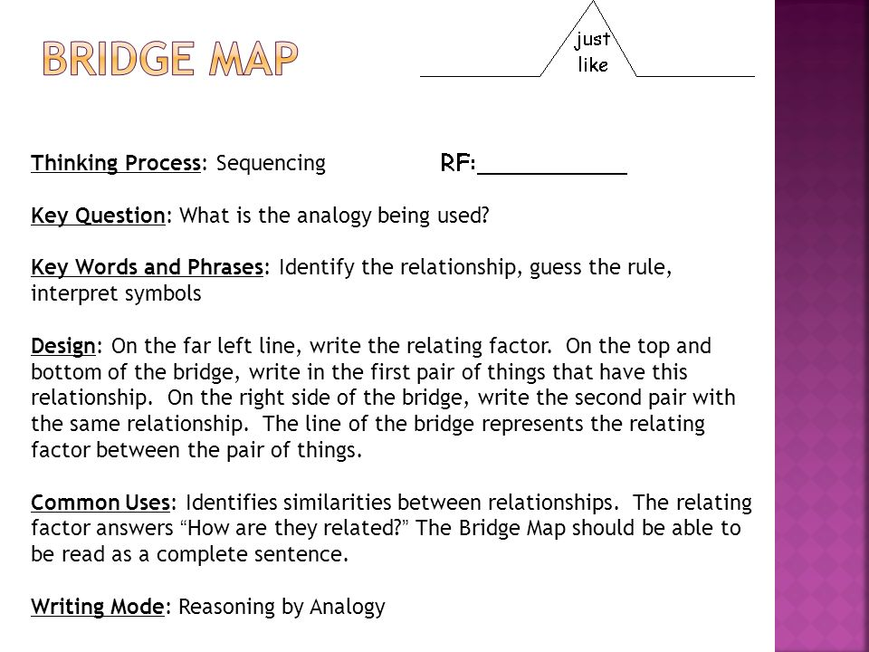 Bridge map Thinking Process: Sequencing