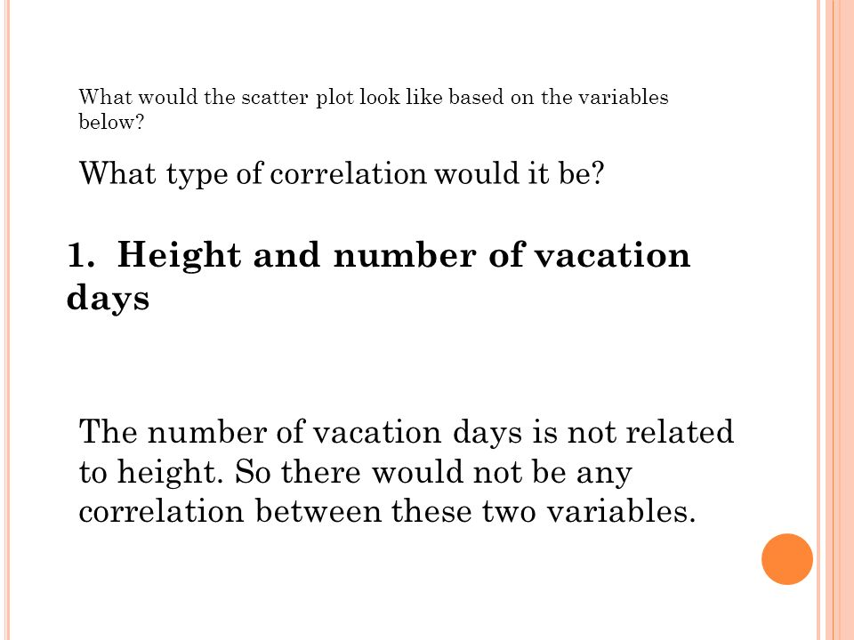 1. Height and number of vacation days