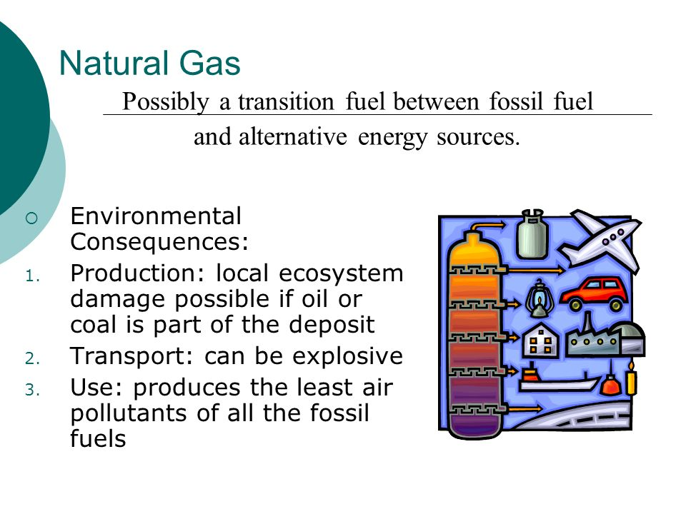 Natural Gas Possibly a transition fuel between fossil fuel