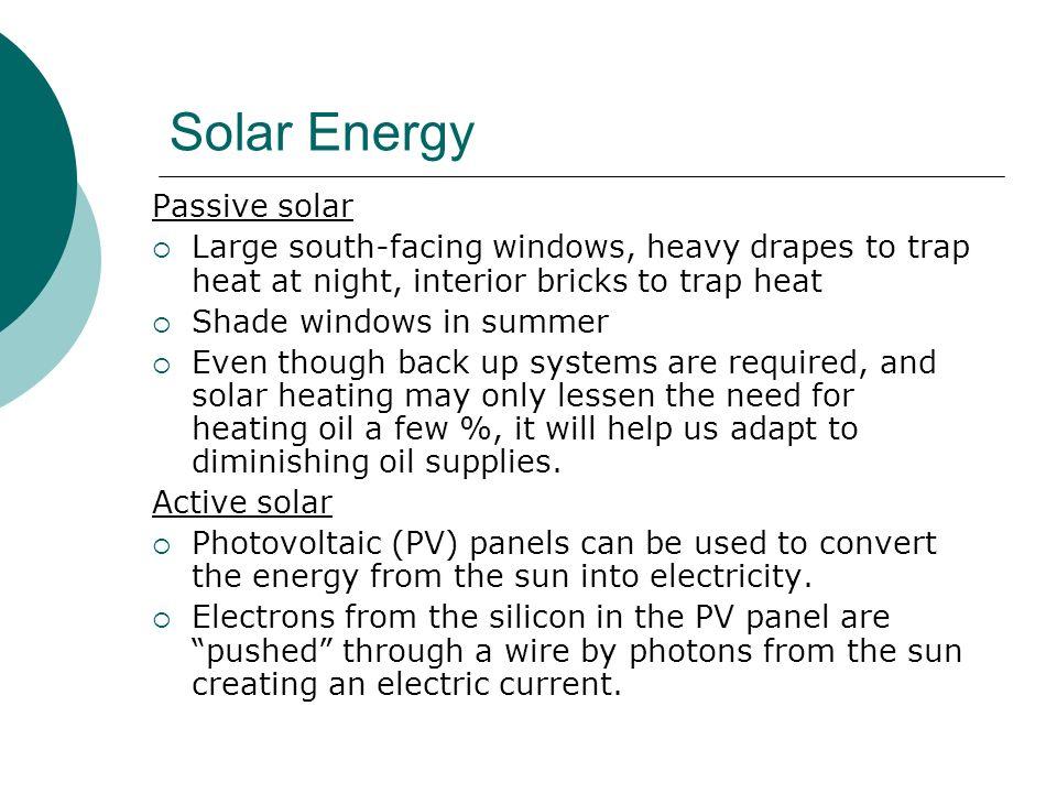 Solar Energy Passive solar