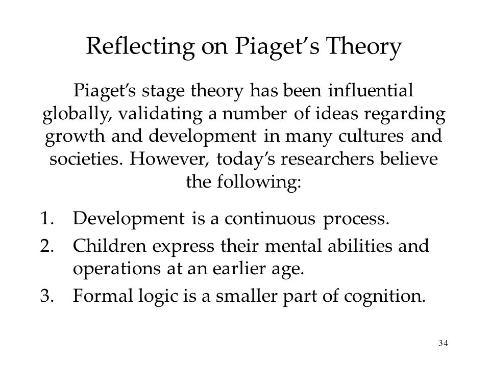 Reflecting on Piaget's Theory