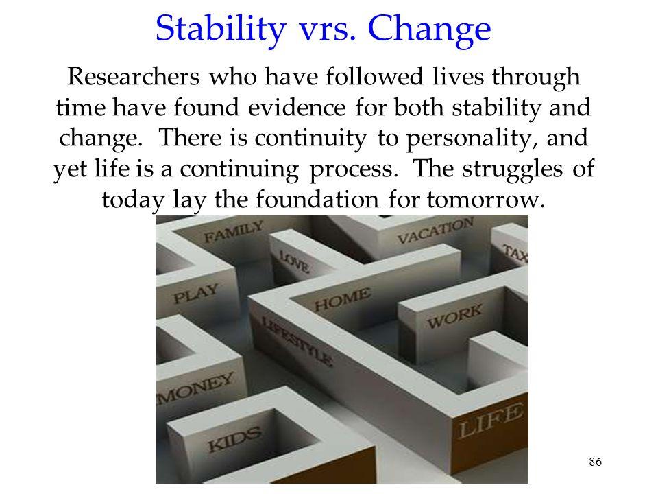 Stability vrs.