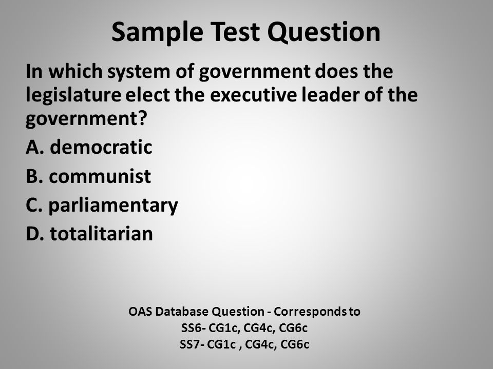OAS Database Question - Corresponds to