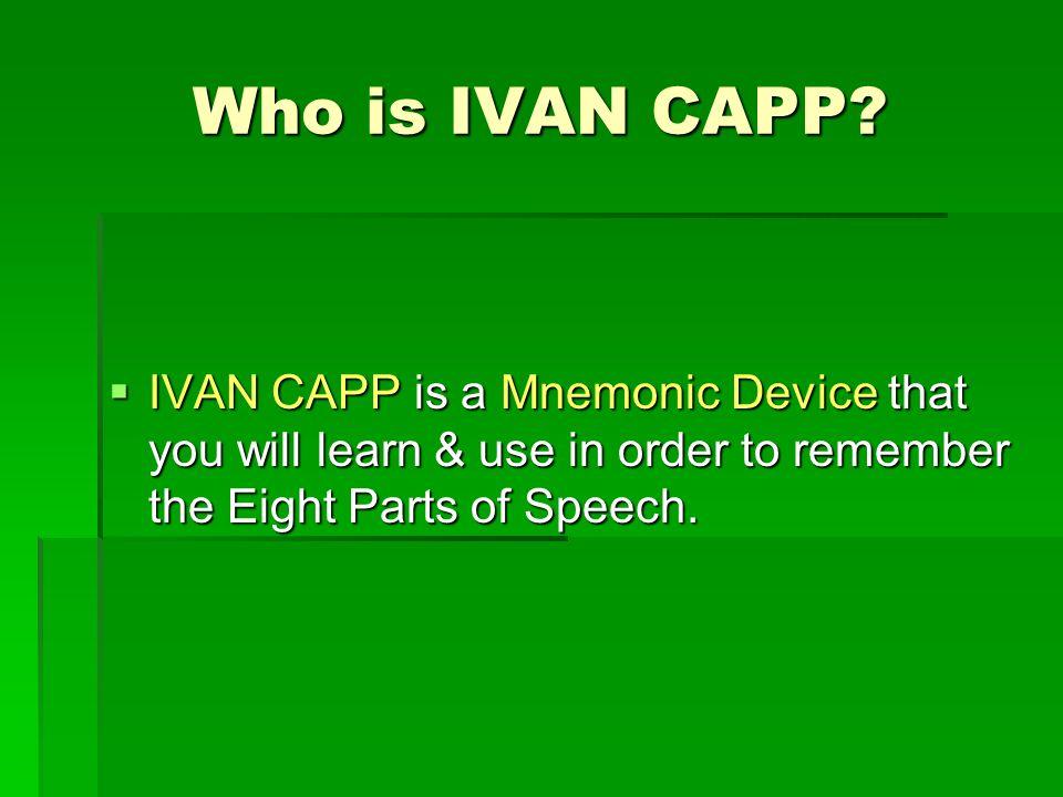 Who is IVAN CAPP.