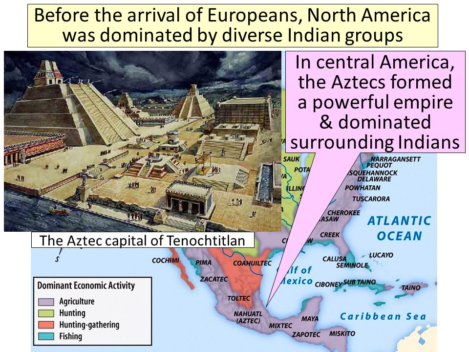 The Aztec capital of Tenochtitlan