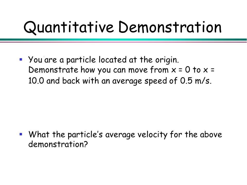 Quantitative Demonstration