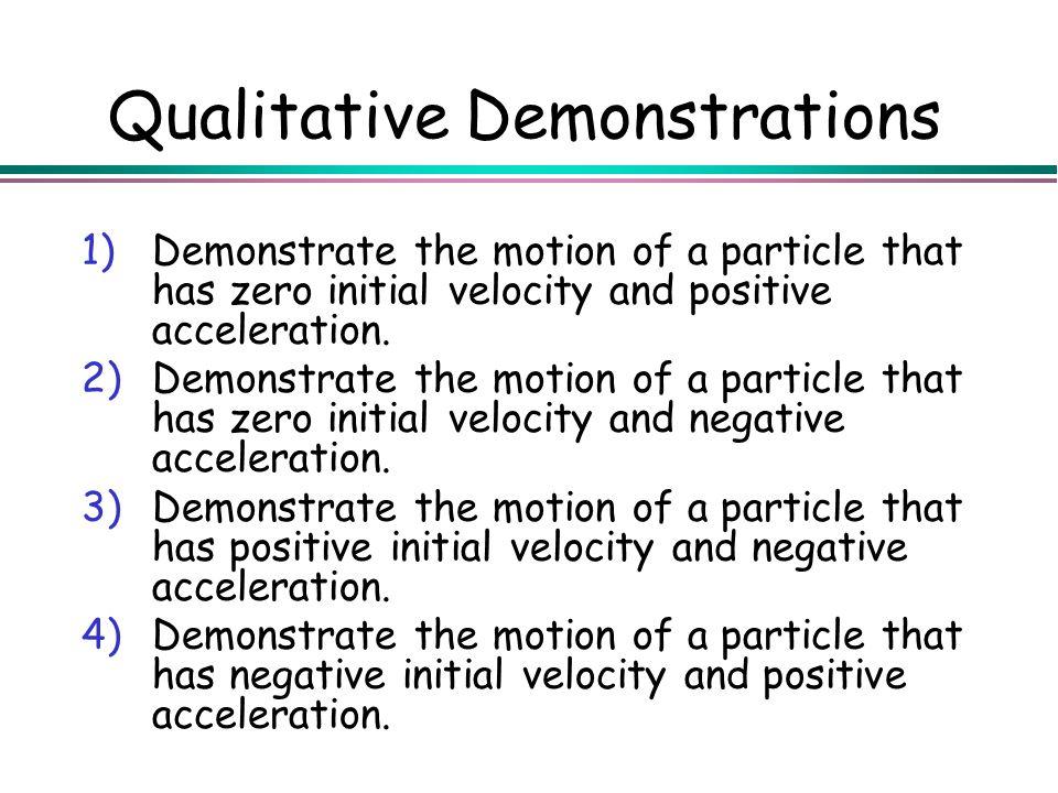 Qualitative Demonstrations
