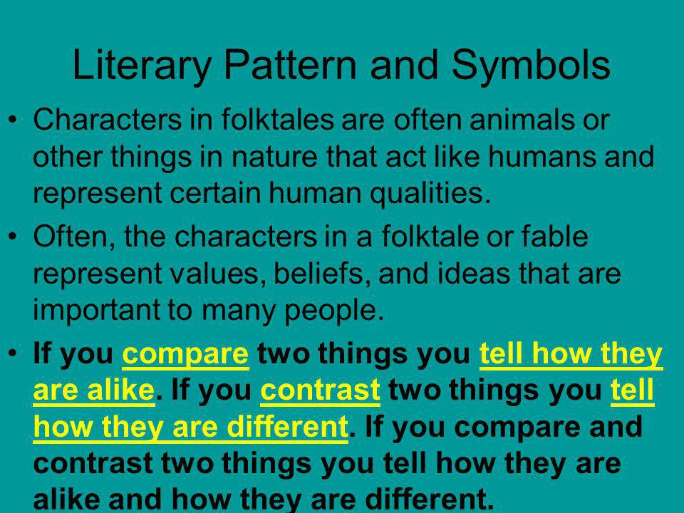 Literary Pattern and Symbols