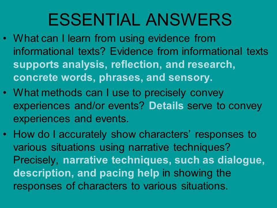 ESSENTIAL ANSWERS