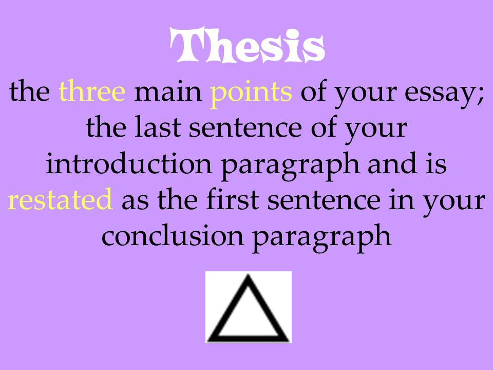 is the thesis always in the first paragraph This style of thesis is perfect for a brief essay that contains only two or three body paragraphs the qualities of a solid thesis statement when composing a thesis, you must consider not only the format a thesis statement always belongs at the beginning of an essay.