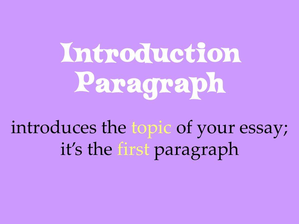 Introduction Paragraph