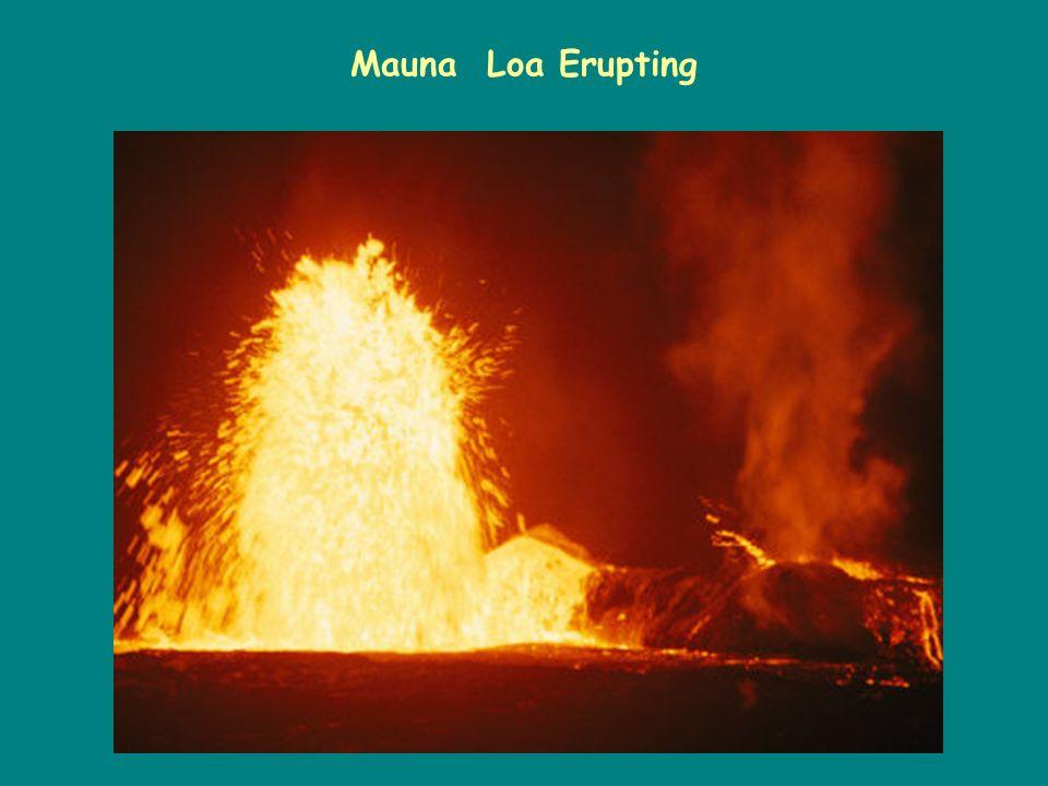 Mauna Loa Erupting