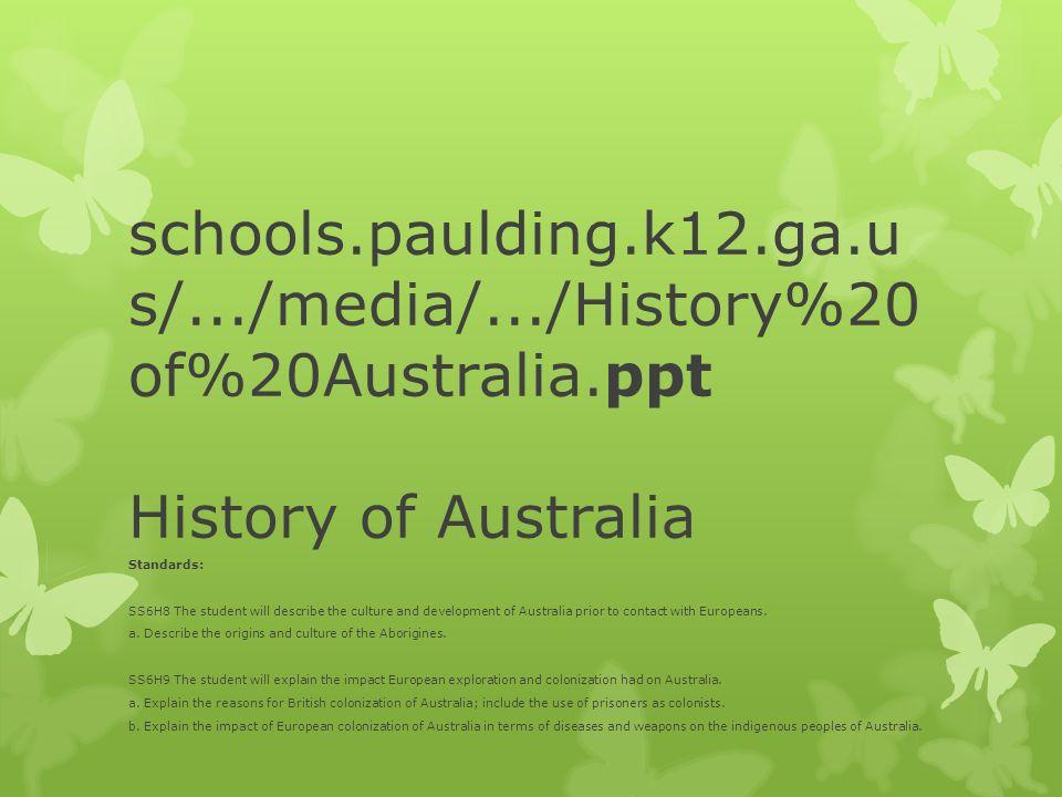 schools. paulding. k12. ga. us/. /media/. /History%20of%20Australia