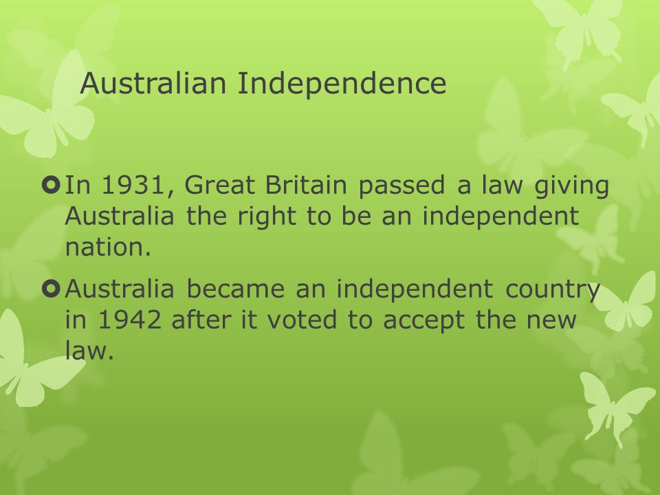 Australian Independence