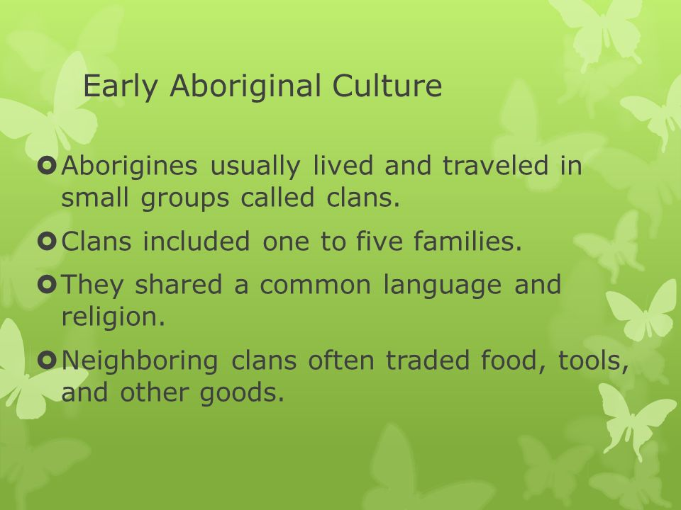 Early Aboriginal Culture