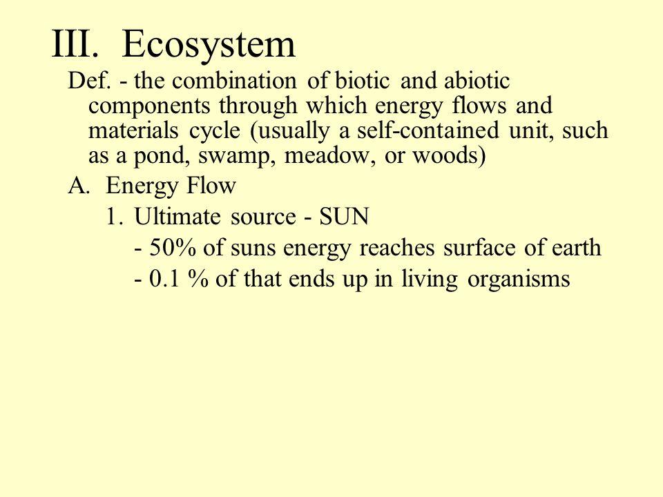 III. Ecosystem