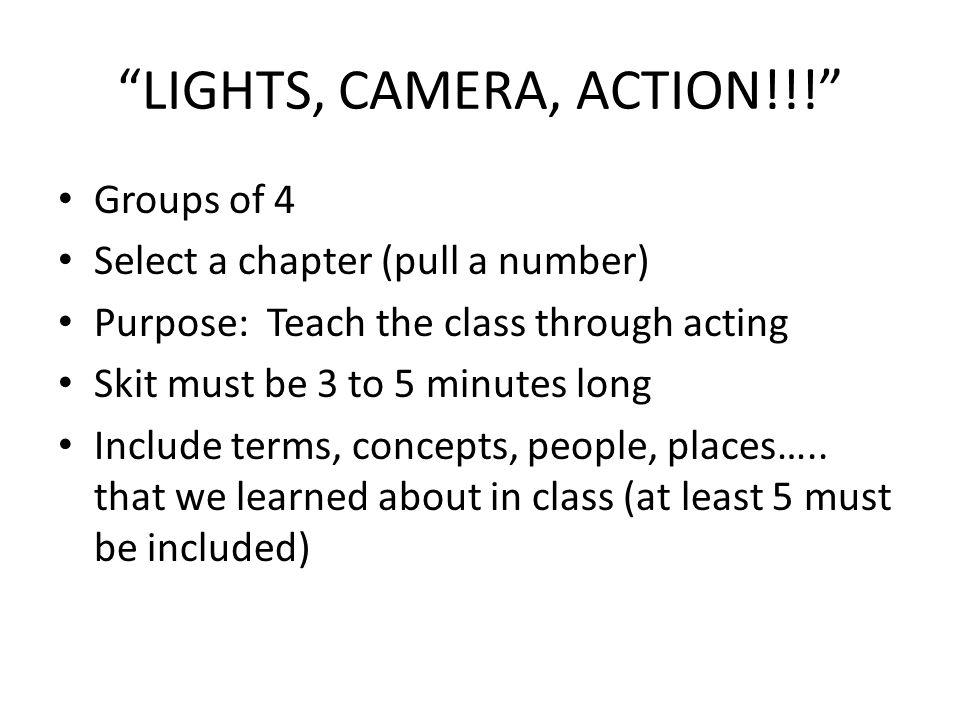 LIGHTS, CAMERA, ACTION!!!