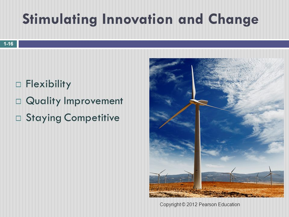 Stimulating Innovation and Change