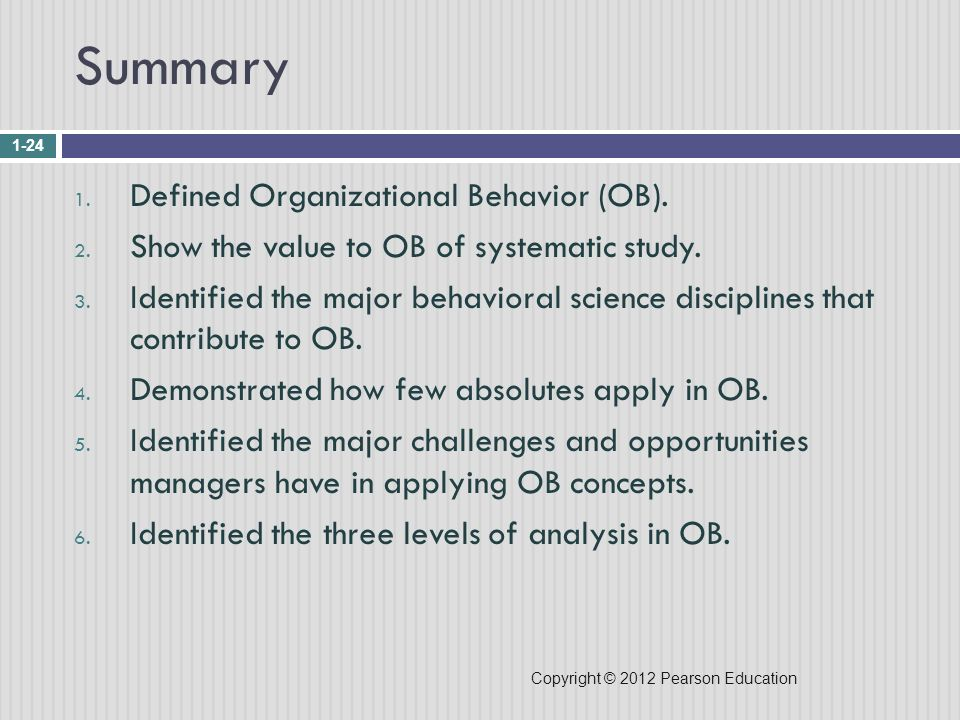 Introduction to Organizational Behavior