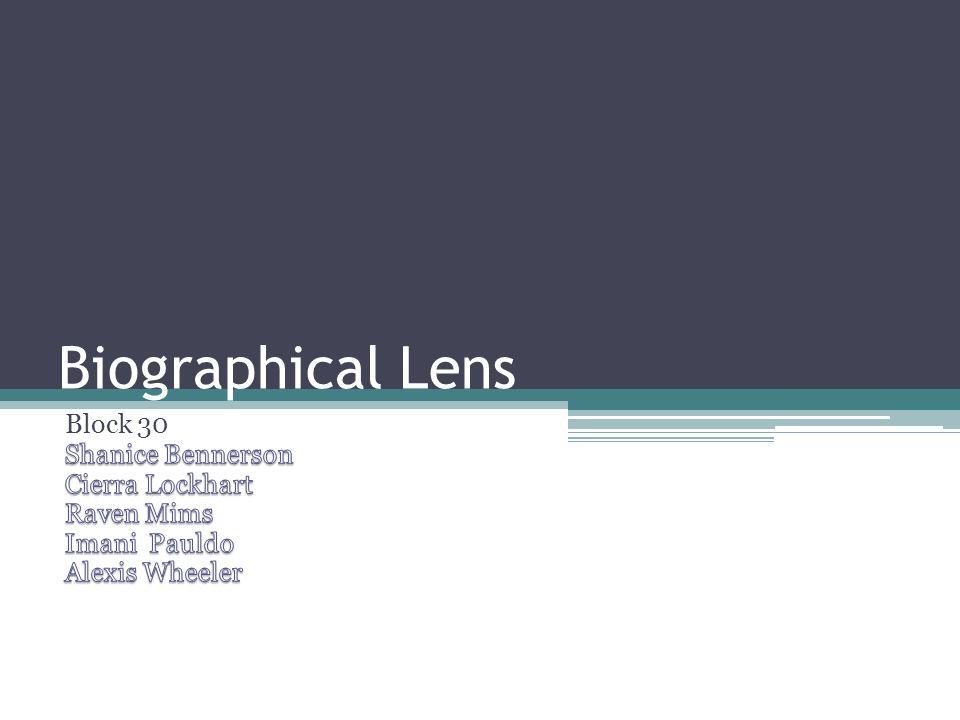 Biographical Lens Block 30 Shanice Bennerson Cierra Lockhart