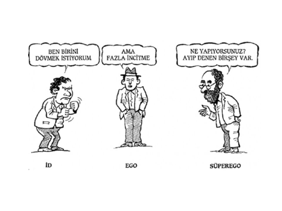the struggles between id and superego Example of id is an action without a consequence example of super ego is a phobia to id without the fear factor example of ego is a mediator to id and super ego.