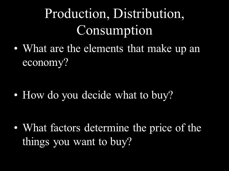 Production, Distribution, Consumption