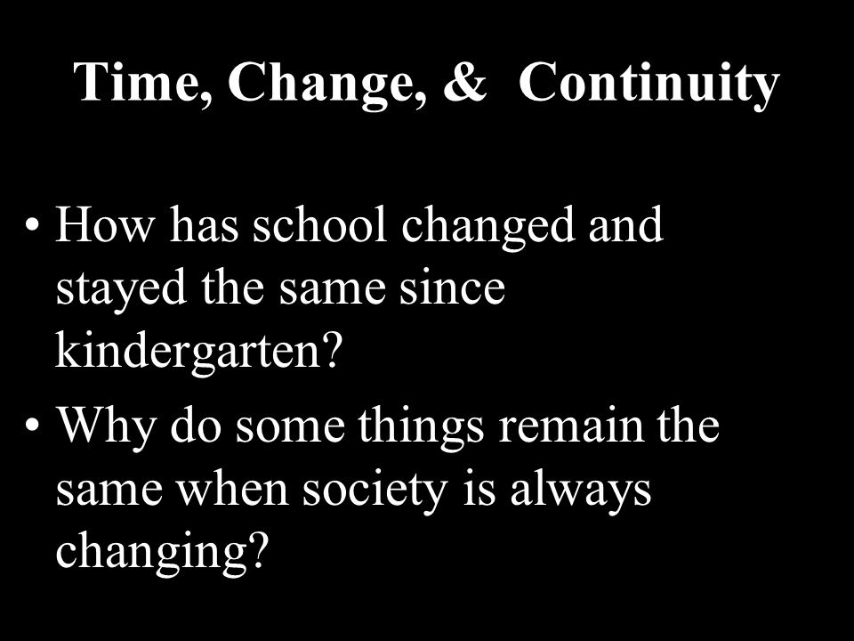 Time, Change, & Continuity