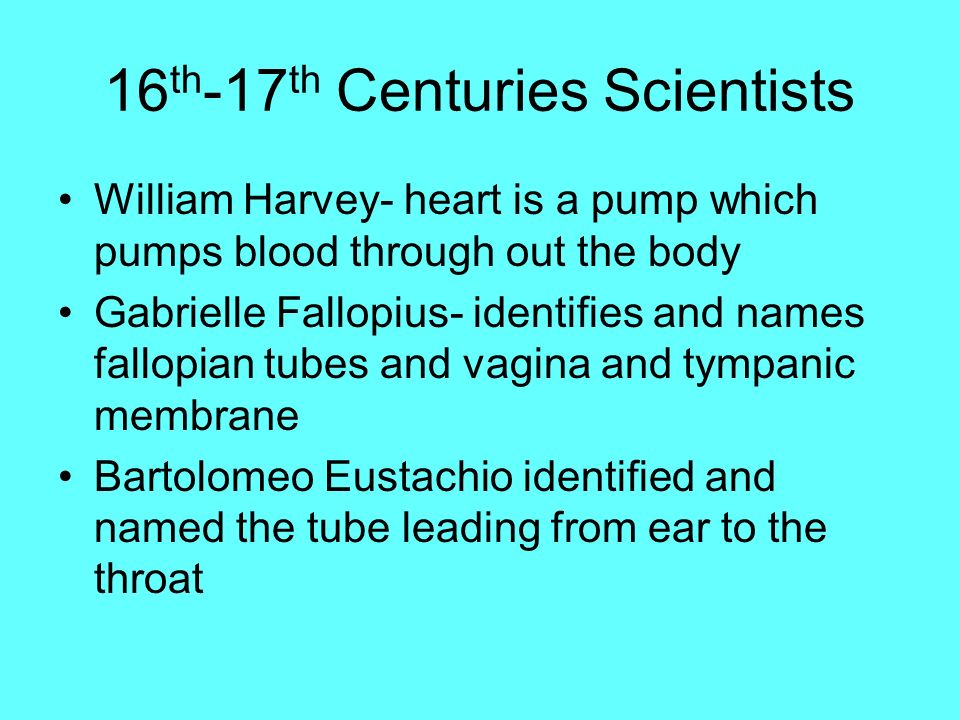 16th-17th Centuries Scientists